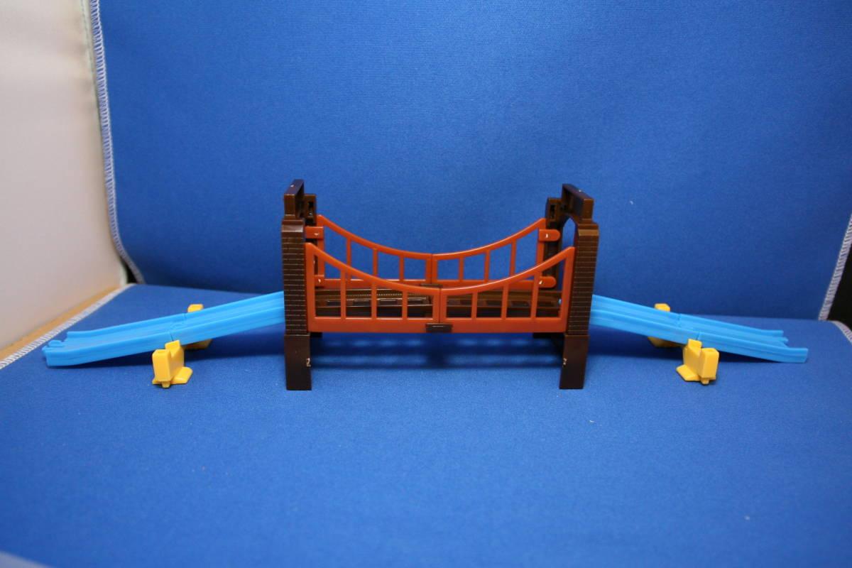 カプセルプラレール 鉄橋 坂レールセット 未使用品_画像1
