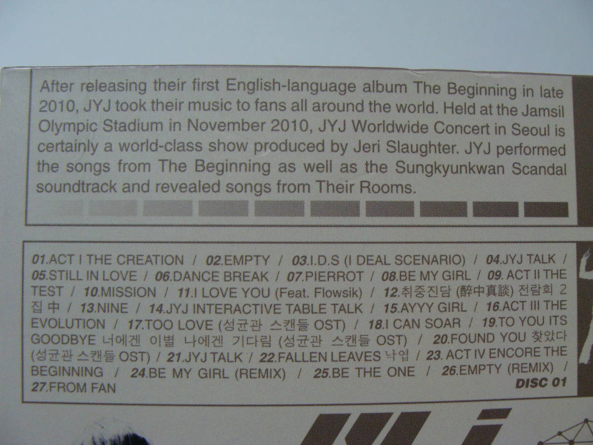 【中古ジャンクDVD】 JYJ WORLDWIDE CONCERT IN SEOUL_画像4