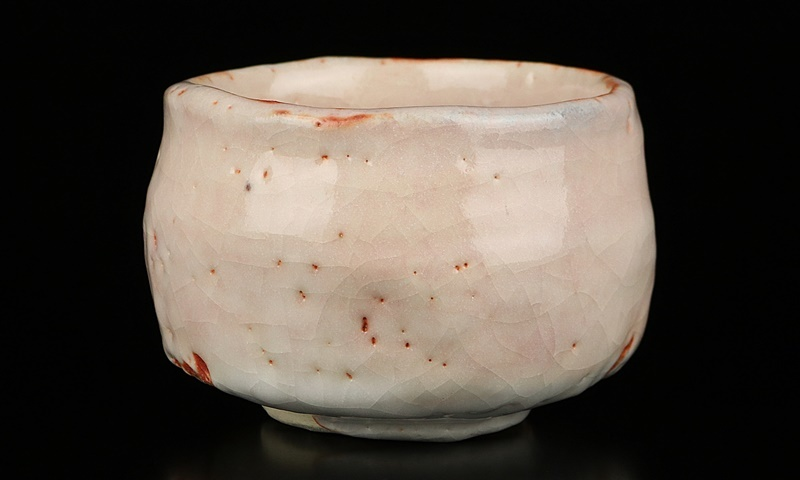 人間国宝【鈴木蔵】作最上位 志野茶碗 艶やかな釉景色! 共箱 保証_画像2