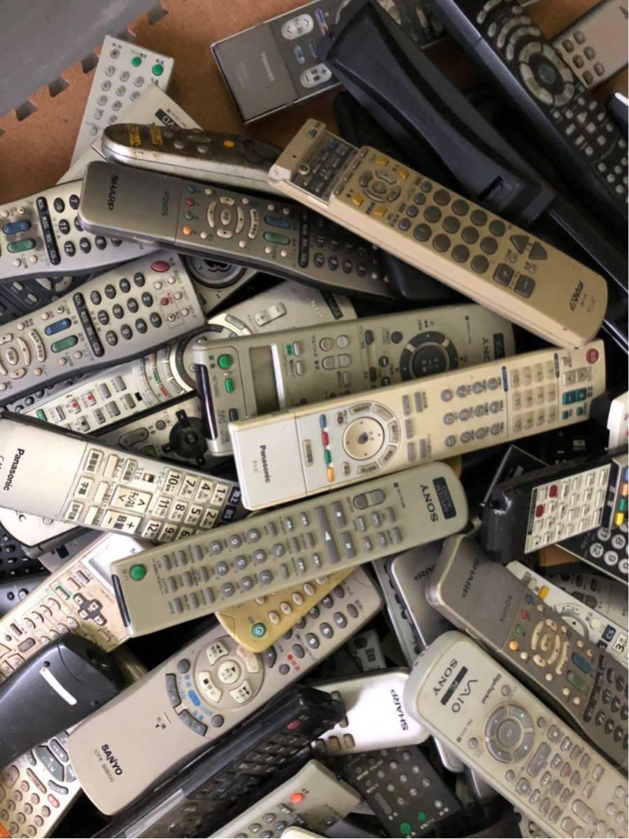 まとめ売り テレビ DVD ブルーレイ リモコン 送信機 200個以上 パナソニック 三菱 SONY 東芝 シャープ ビクター NECメーカー多数 混在 転売_画像4