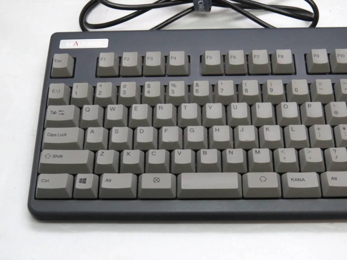 東プレ Realforce 91UG-S NG31BS USBキーボード 中古品(使用頻度低)_画像2