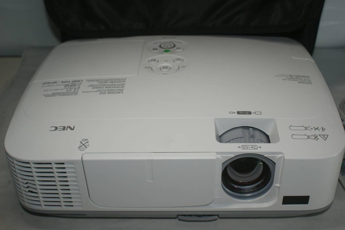 NEC 高輝度 液晶 プロジェクター NP-M311WJL 3100lm ★HDMI端子★ランプ時間残88% 491時間 WXGAパネル ハイビジョン画質。リモコン付_画像5
