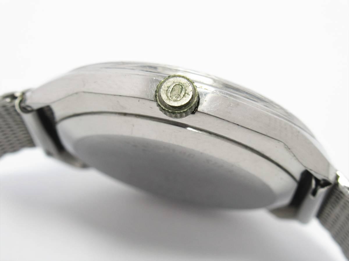 W7037 オリエント ファイネス ウルトラマチック メンズ 自動巻き ラウンド デイデイト アンティーク 流通少 レア ケース付き 時計_画像3