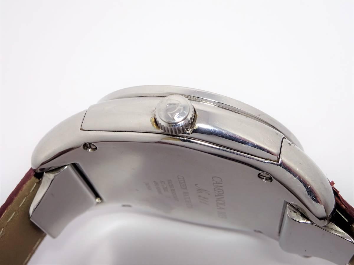 W6913 シチズン カンパノラ コスモサイン 4391-H30881 星座位置早見 メンズ クォーツ ラウンド サファイアガラス 未使用ブレス 時計_画像3