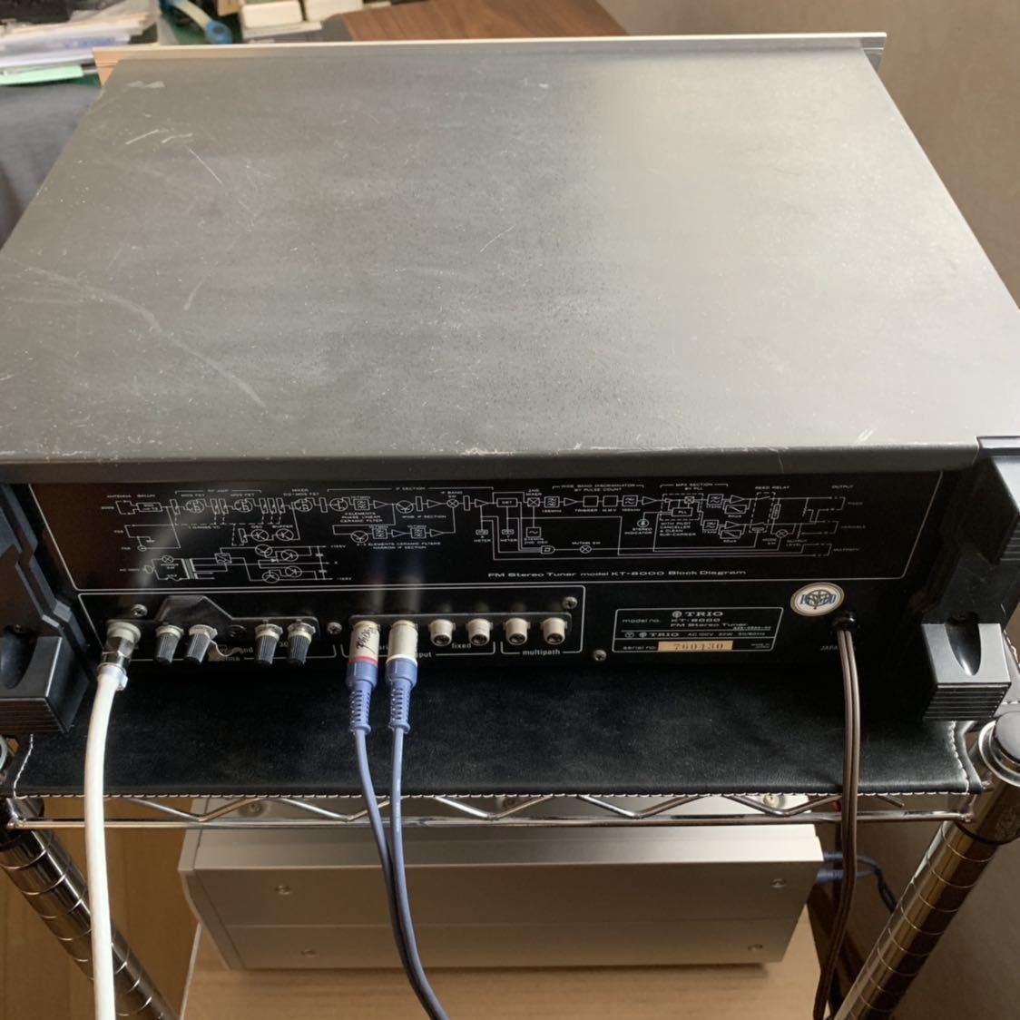 受信感度良好 TRIO トリオ FM 専用 チューナー KT-8000 電源スイッチのみ不良 その他 完動確認_画像10