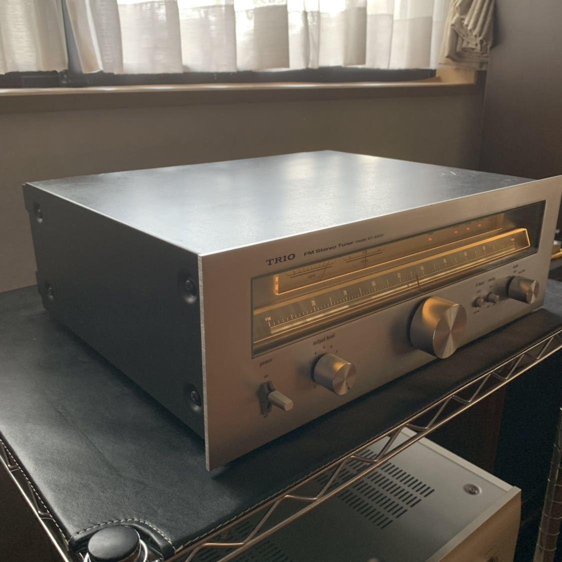 受信感度良好 TRIO トリオ FM 専用 チューナー KT-8000 電源スイッチのみ不良 その他 完動確認_画像8