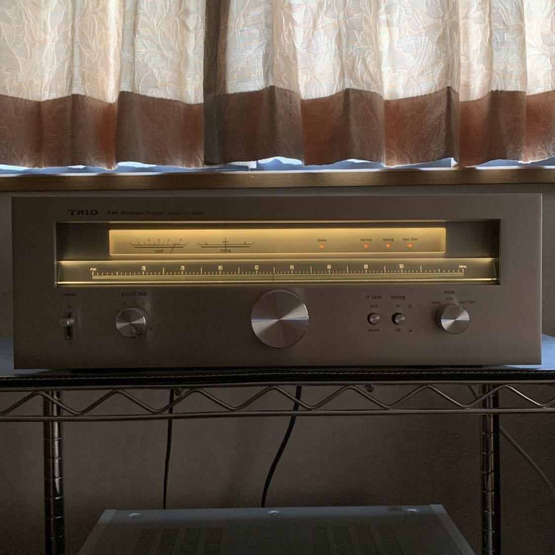 受信感度良好 TRIO トリオ FM 専用 チューナー KT-8000 電源スイッチのみ不良 その他 完動確認_画像3