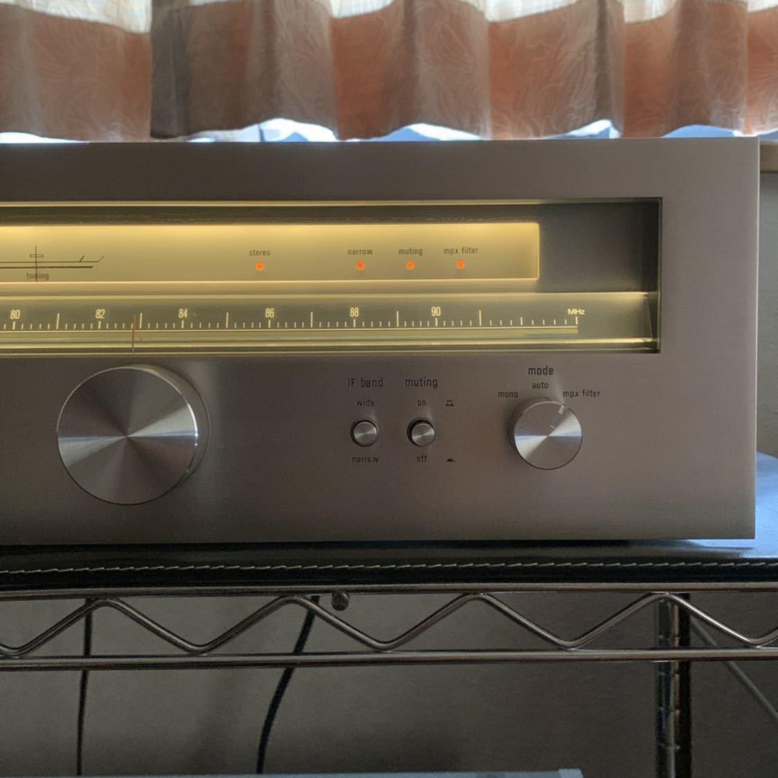 受信感度良好 TRIO トリオ FM 専用 チューナー KT-8000 電源スイッチのみ不良 その他 完動確認_画像6
