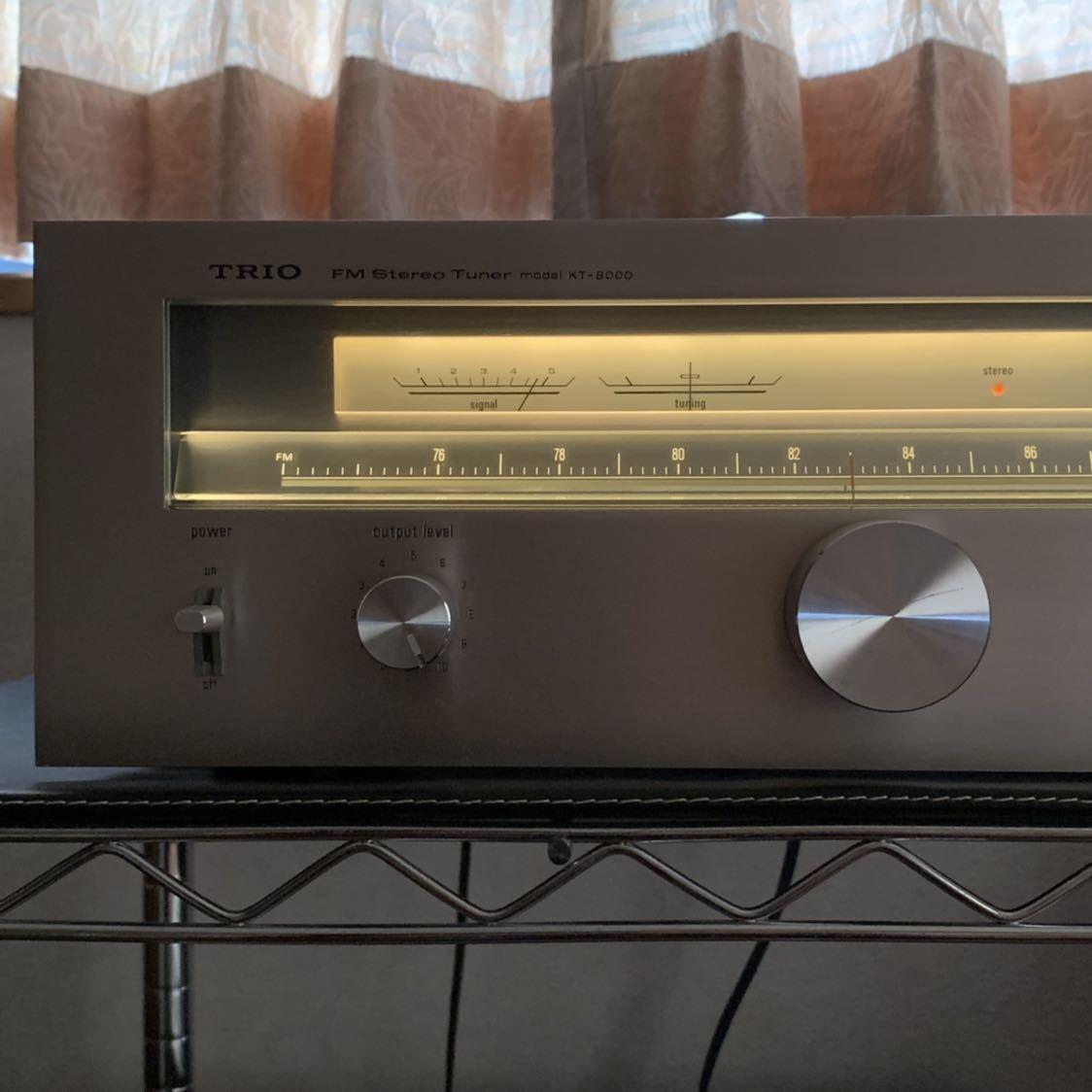 受信感度良好 TRIO トリオ FM 専用 チューナー KT-8000 電源スイッチのみ不良 その他 完動確認_画像5