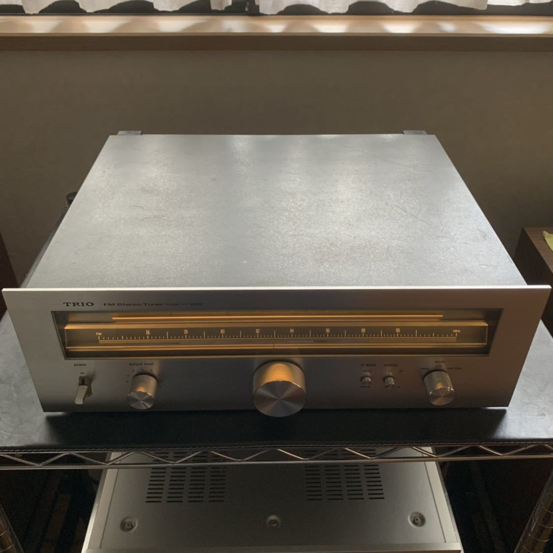 受信感度良好 TRIO トリオ FM 専用 チューナー KT-8000 電源スイッチのみ不良 その他 完動確認_画像7