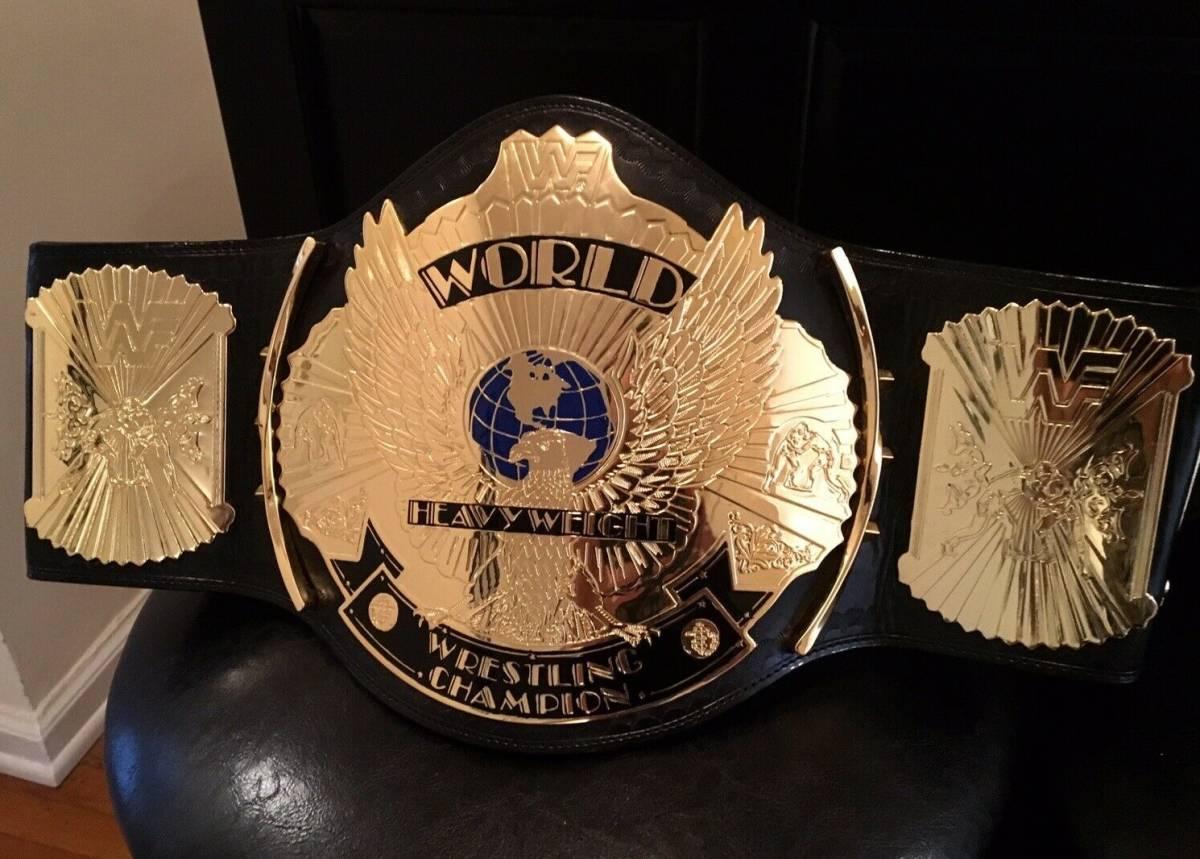超希少!本物をあなたに WWF 公式 オフィシャル 世界 チャンピオンベルト ウィングドイーグル 80年代 ハルク・ホーガン時代のベルト。_非常に美しいセンタープレート