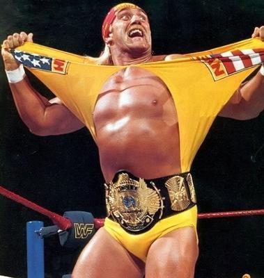 超希少!本物をあなたに WWF 公式 オフィシャル 世界 チャンピオンベルト ウィングドイーグル 80年代 ハルク・ホーガン時代のベルト。_このパフォーマンスで有名なベルトです