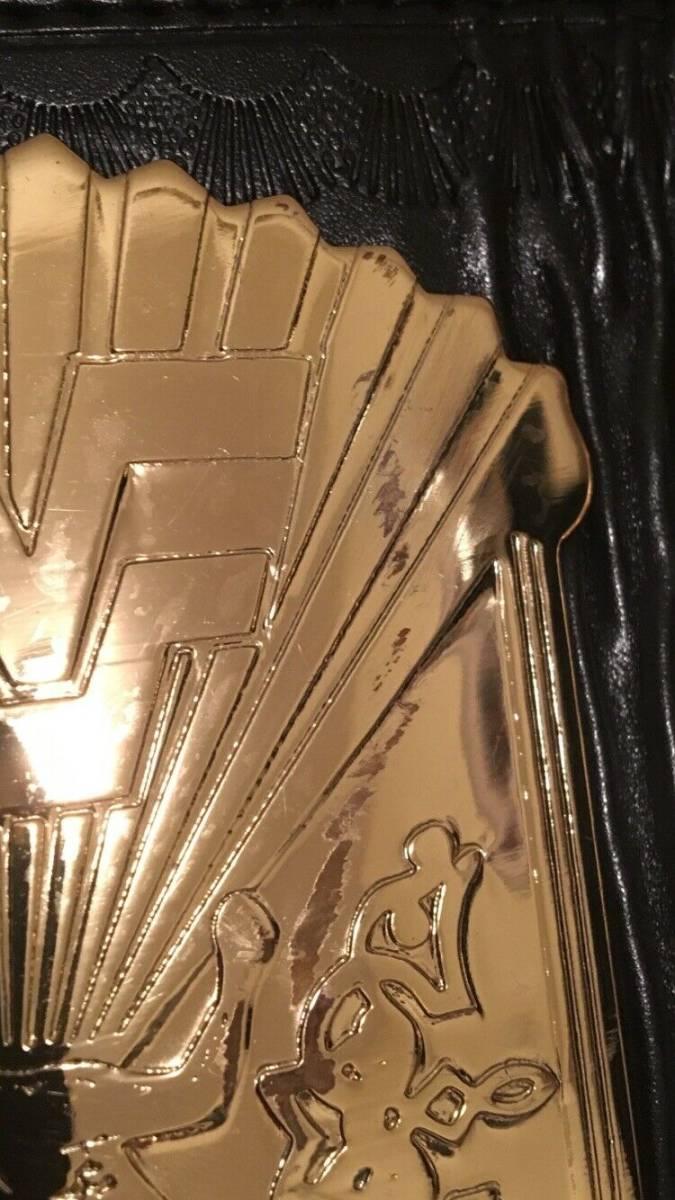 超希少!本物をあなたに WWF 公式 オフィシャル 世界 チャンピオンベルト ウィングドイーグル 80年代 ハルク・ホーガン時代のベルト。_サイドプレートに小キズあり
