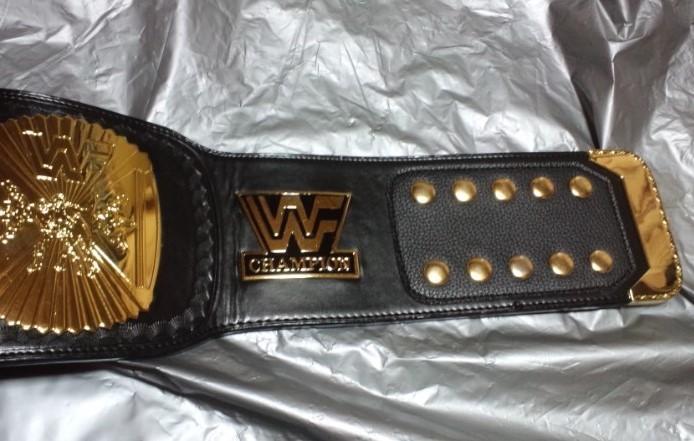 超希少!本物をあなたに WWF 公式 オフィシャル 世界 チャンピオンベルト ウィングドイーグル 80年代 ハルク・ホーガン時代のベルト。_ストラップ部