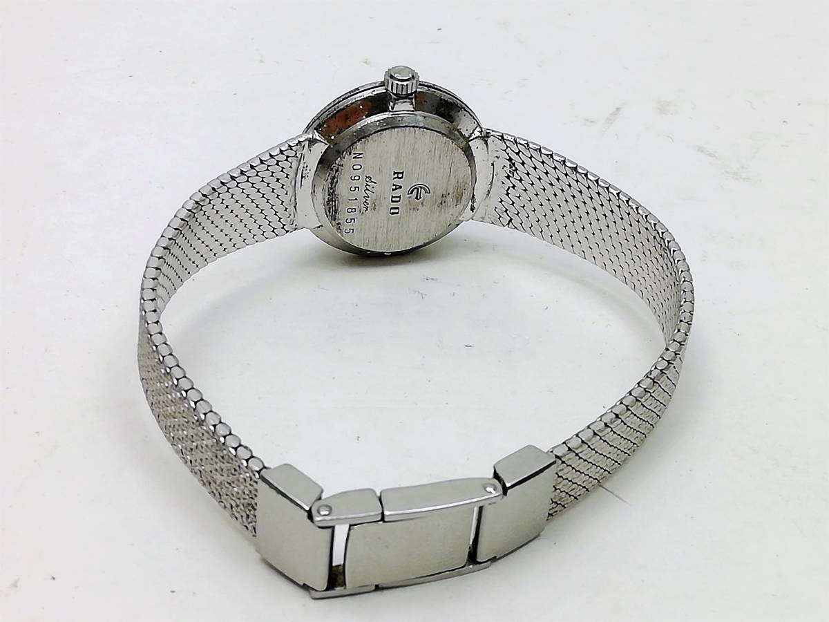 希少☆ RADO ラドー SILVER COLOGNY シルバーコロニー 手巻き式 ホワイト文字盤 ラウンド アンティーク レディース腕時計 _画像5