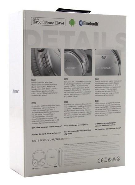 新品 未開封 Bose QuietComfort 35 wireless headphones ボーズ ワイヤレスノイズキャンセリングヘッドホン シルバー_画像3