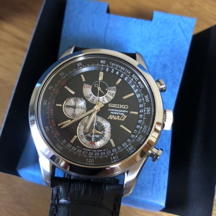 新品 未使用 SEIKO セイコー クロノグラフ ANA限定モデル クオーツ 7T86-0AE0 腕時計 _画像2