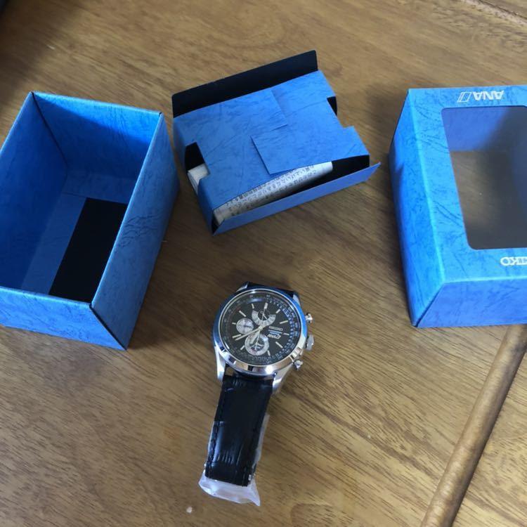新品 未使用 SEIKO セイコー クロノグラフ ANA限定モデル クオーツ 7T86-0AE0 腕時計