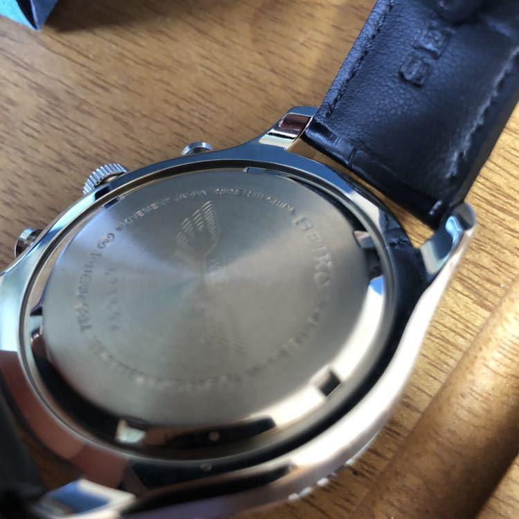 新品 未使用 SEIKO セイコー クロノグラフ ANA限定モデル クオーツ 7T86-0AE0 腕時計 _画像4