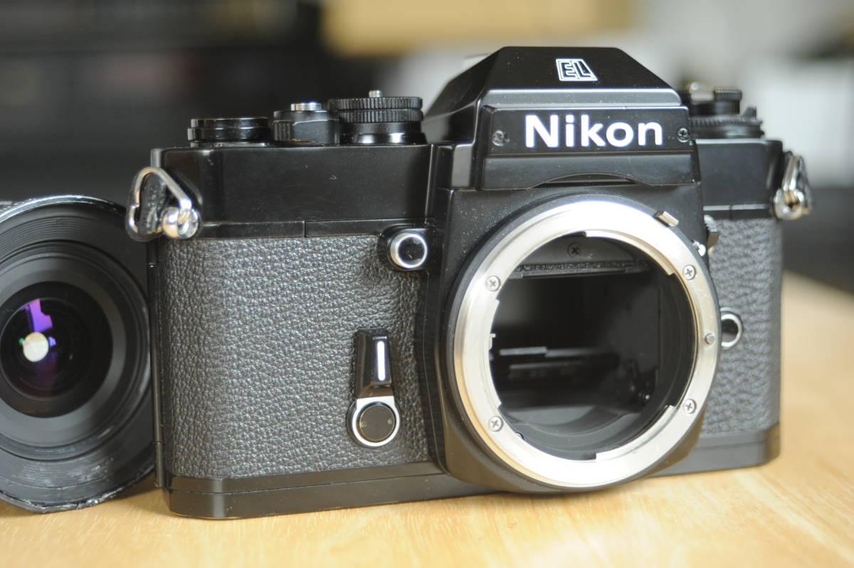 Nikon EL2 Ai NIKKOR 20mm f2.8S ジャンクのセット_画像6