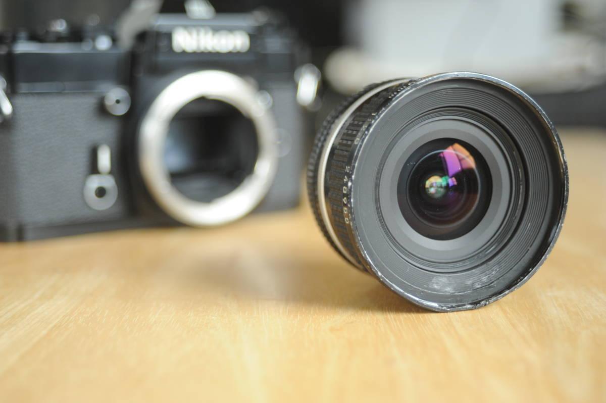 Nikon EL2 Ai NIKKOR 20mm f2.8S ジャンクのセット_画像7