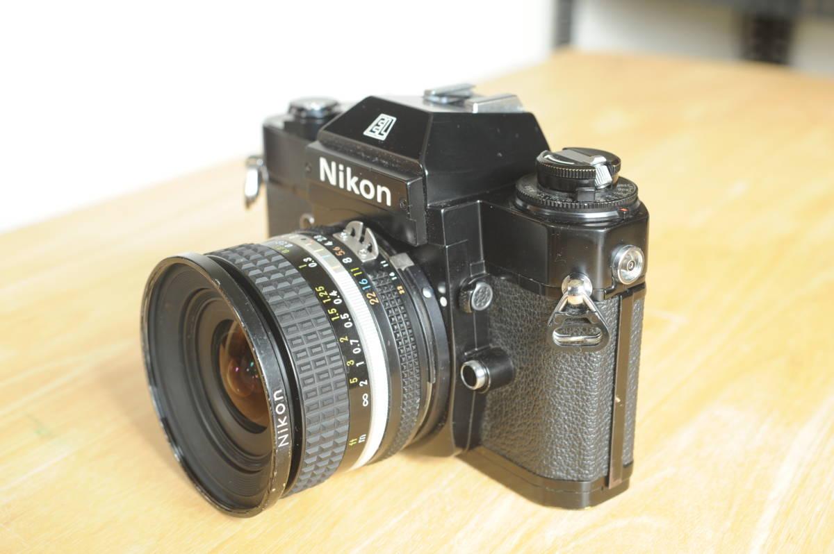 Nikon EL2 Ai NIKKOR 20mm f2.8S ジャンクのセット_画像2
