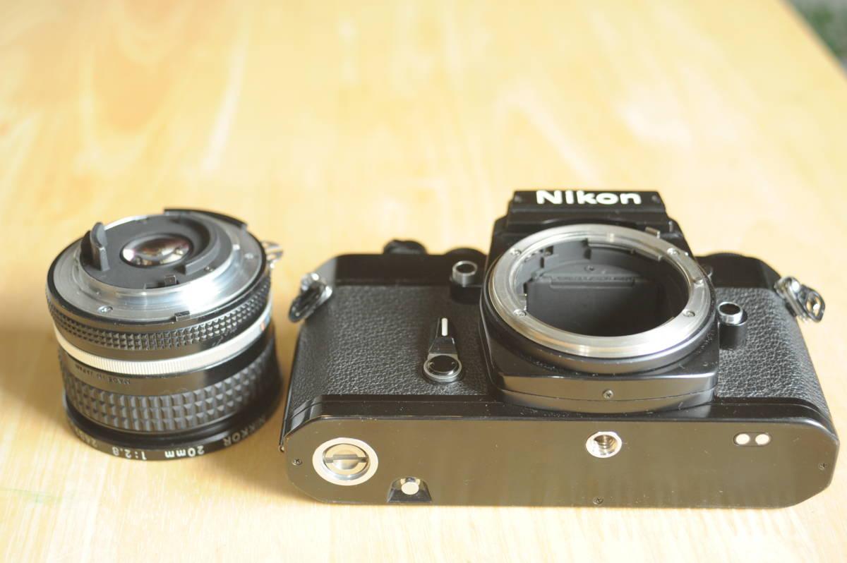 Nikon EL2 Ai NIKKOR 20mm f2.8S ジャンクのセット_画像5
