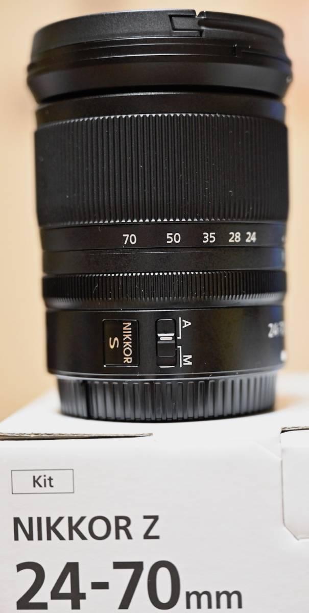 Nikon ミラーレス一眼用 ZOOMレンズ NIKKOR Z 24-70mm f/24 S 極美品 おまけ(保護フィルター)付きほぼ未使用_画像2
