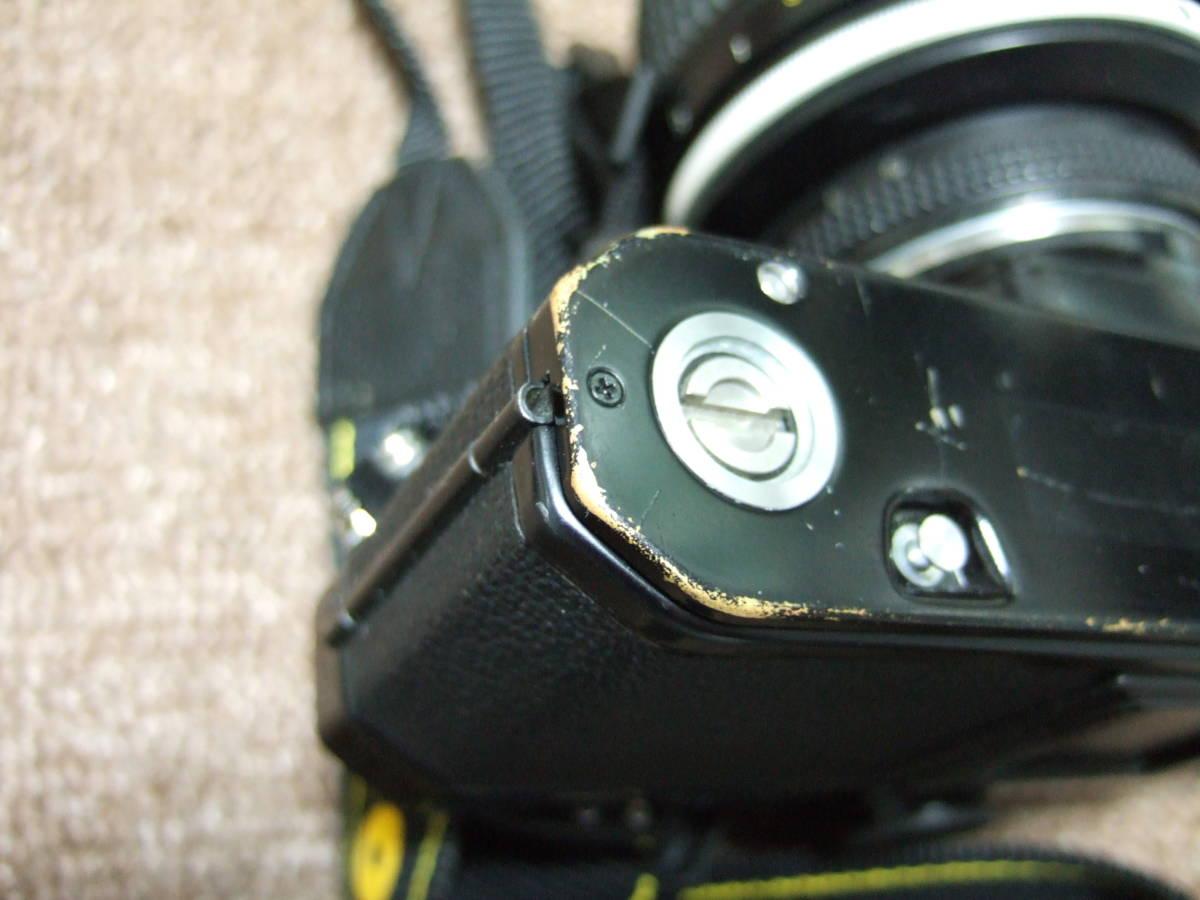 ニコン Nikon FM2ブラック + 85mm/F1.4 + 50mm/F1.4 中古品_画像2