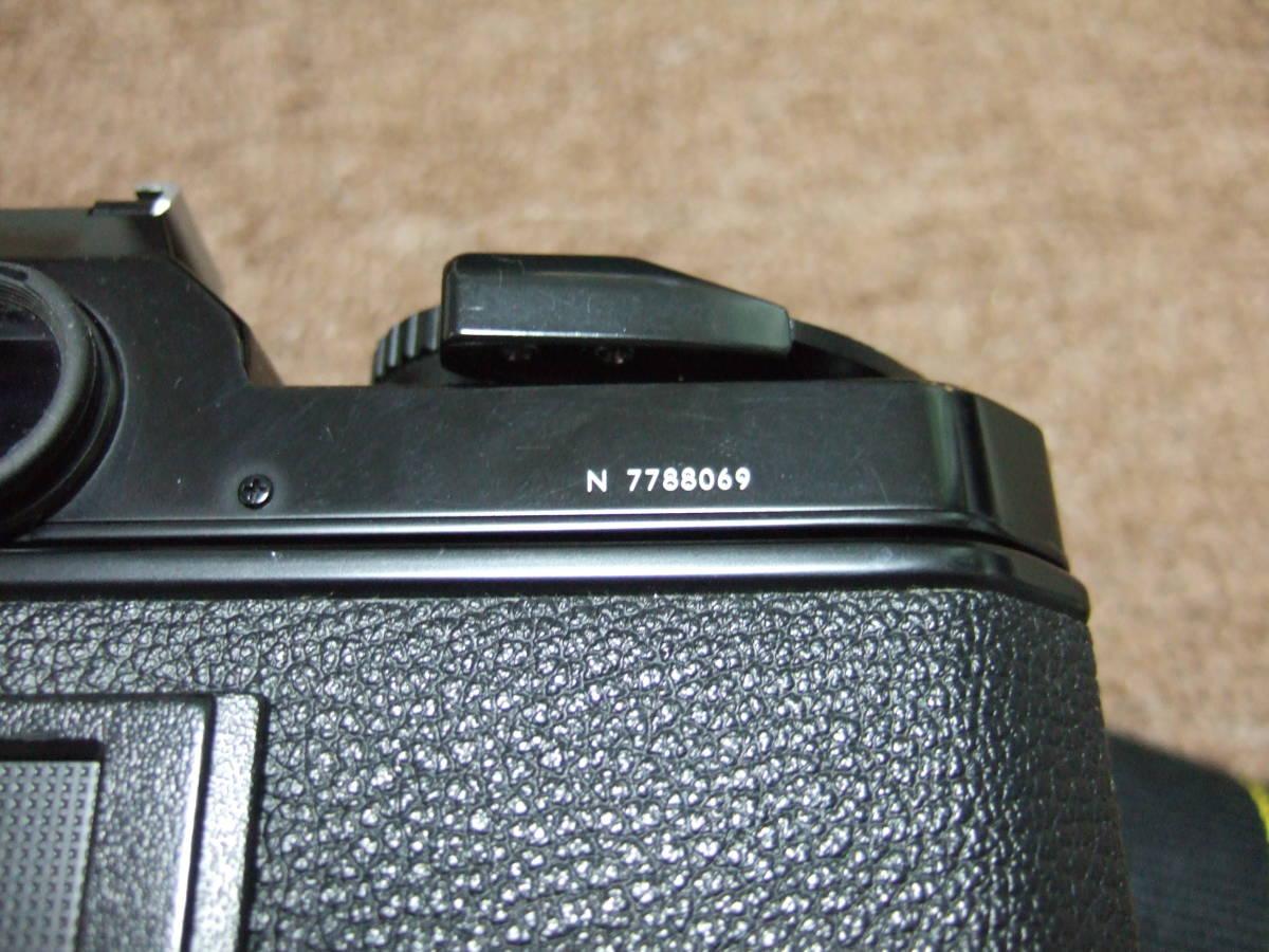ニコン Nikon FM2ブラック + 85mm/F1.4 + 50mm/F1.4 中古品_画像6