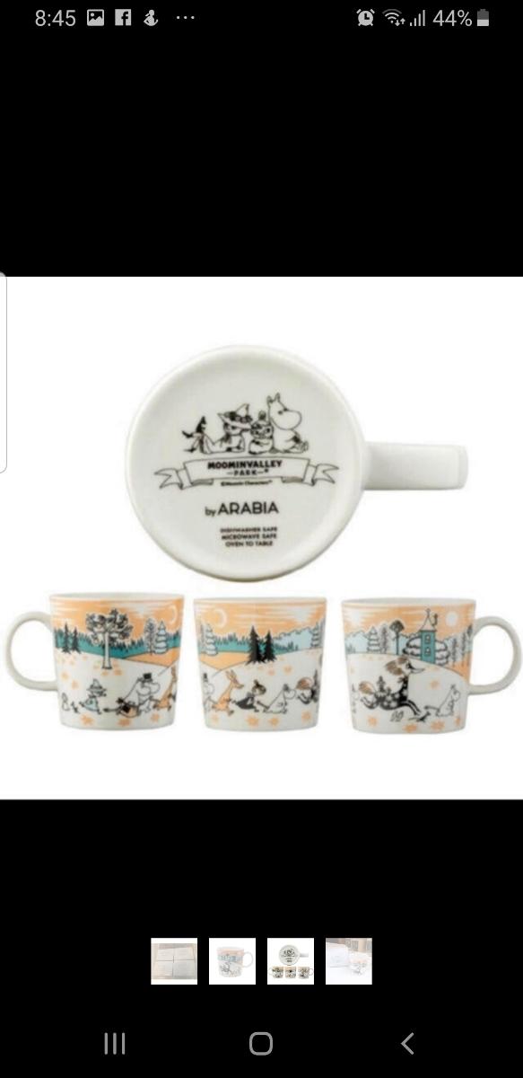 ムーミンバレーパーク 限定 アラビア マグカップ 2個セット ショップバック付き_画像6