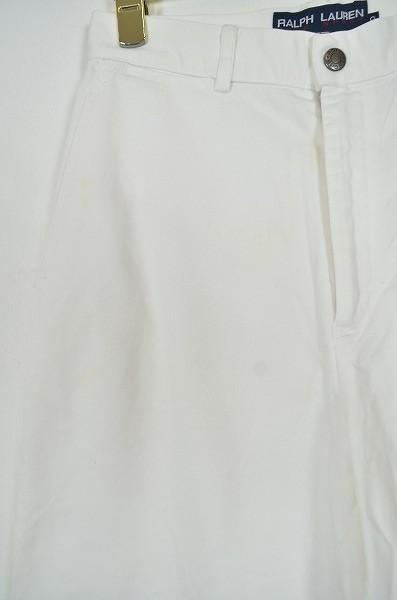 [B17] ラルフローレン RALPH LUREN POLO SPORT コットンパンツ バギーパンツ ボトムス 白 綿 SIZE9 カジュアル ロゴ *お洒落*シンプル◎*_画像7