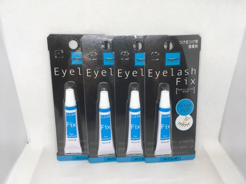 [ new goods 4 pcs set / free shipping ] eyelashes fixing parts clear Eye lash Fix CLEAR eyelashes extensions for adhesive