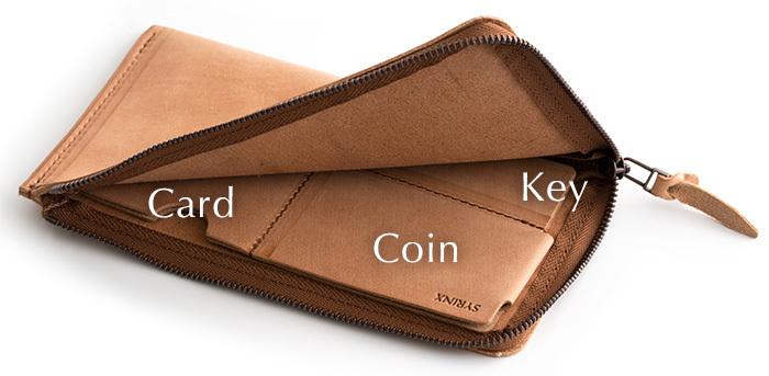 未使用限定品SYRINX 厚い革の薄い財布《単》HITOE長財布アブラサスabrAsusミニマム極薄MOMAガンゾGANZO土屋鞄フェリージココマイスター_画像5