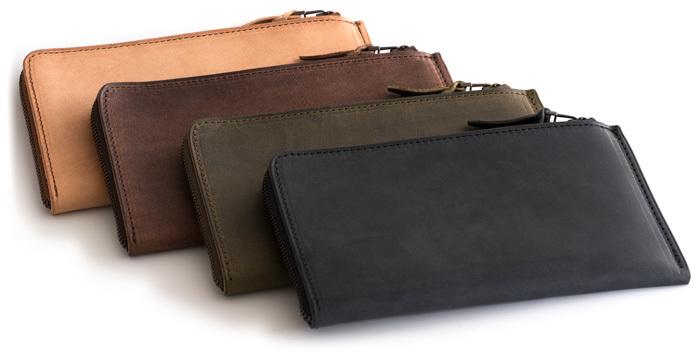 未使用限定品SYRINX 厚い革の薄い財布《単》HITOE長財布アブラサスabrAsusミニマム極薄MOMAガンゾGANZO土屋鞄フェリージココマイスター_画像3