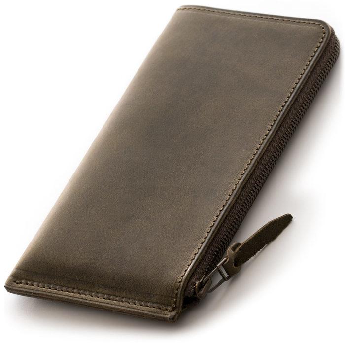 未使用限定品SYRINX 厚い革の薄い財布《単》HITOE長財布アブラサスabrAsusミニマム極薄MOMAガンゾGANZO土屋鞄フェリージココマイスター