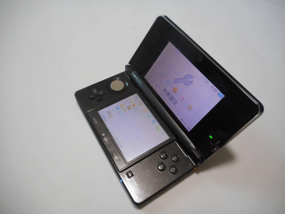 ⑨【送料無料】完動品3DS本体コスモブラックVer11.9.0-42J【動作確認済み1円スタート】