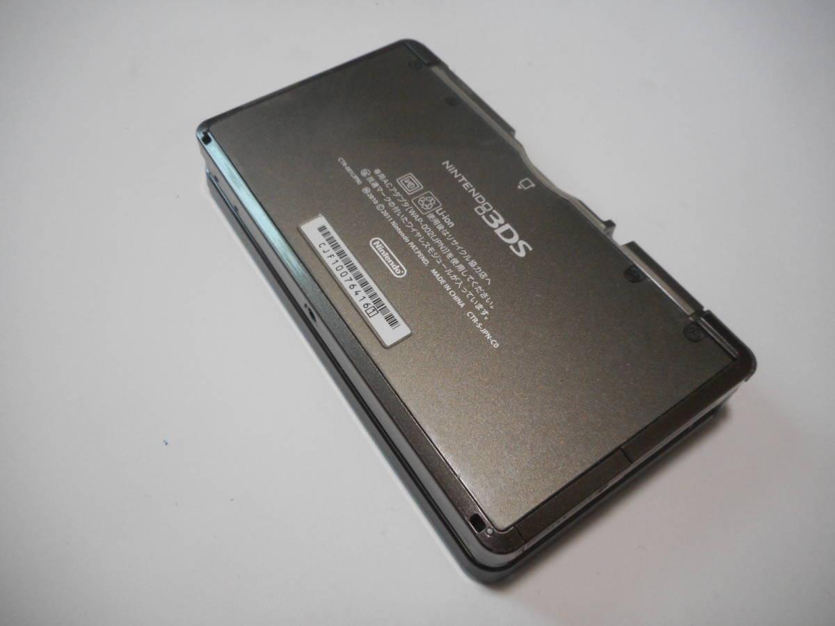 ⑨【送料無料】完動品3DS本体コスモブラックVer11.9.0-42J【動作確認済み1円スタート】_画像3