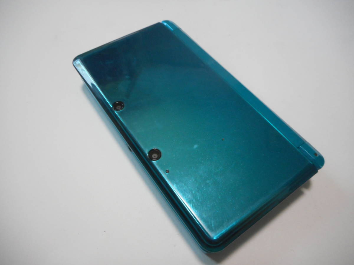 ⑩【送料無料】完動品3DS本体アクアブルーVer11.2.0-35J【動作確認済み1円スタート】_画像2