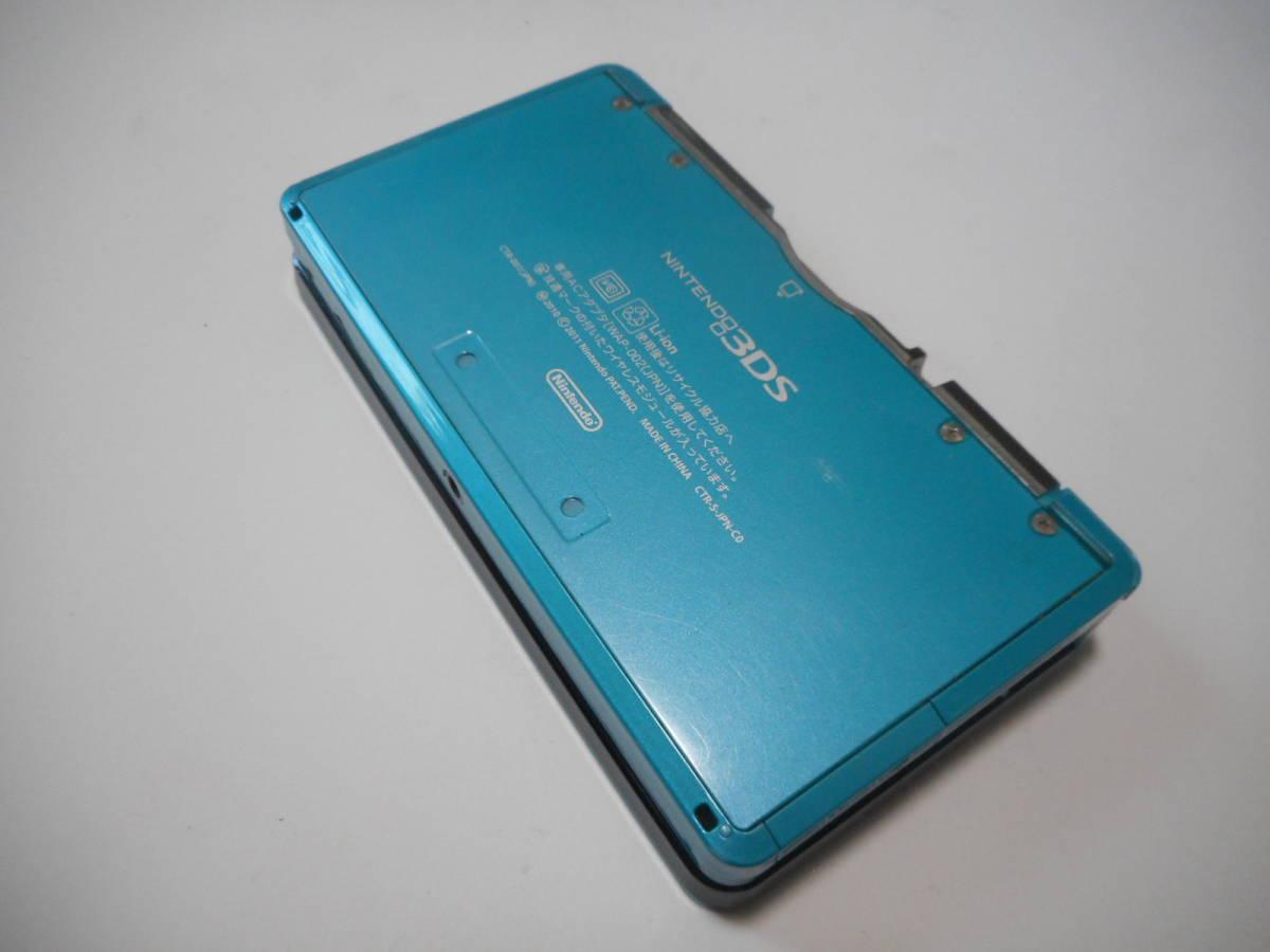 ⑩【送料無料】完動品3DS本体アクアブルーVer11.2.0-35J【動作確認済み1円スタート】_画像3
