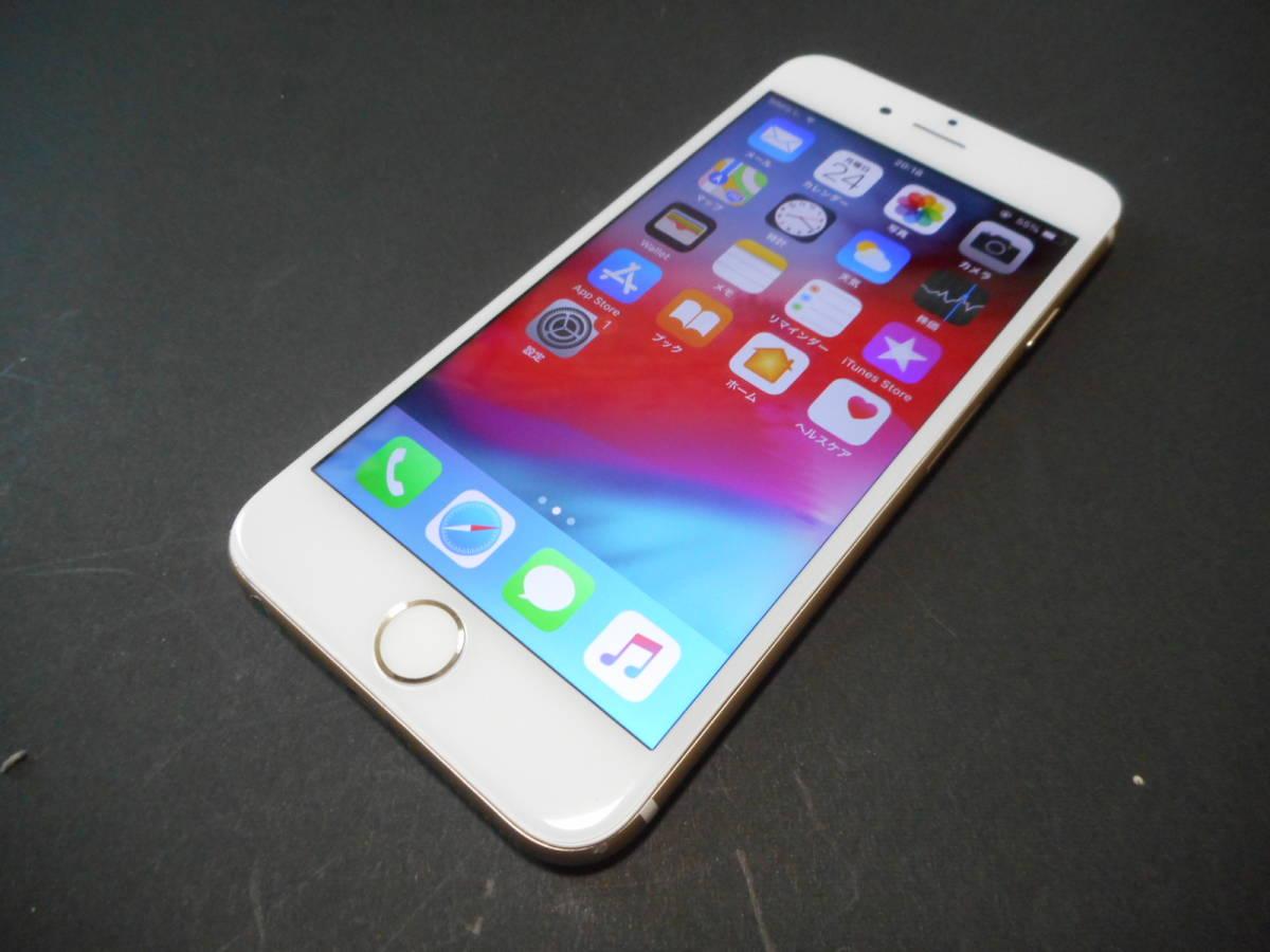①国内版SIMフリーiPhone6本体16GB液晶無傷ゴールド完動品白ロム【動作確認済み1円スタート送料無料】