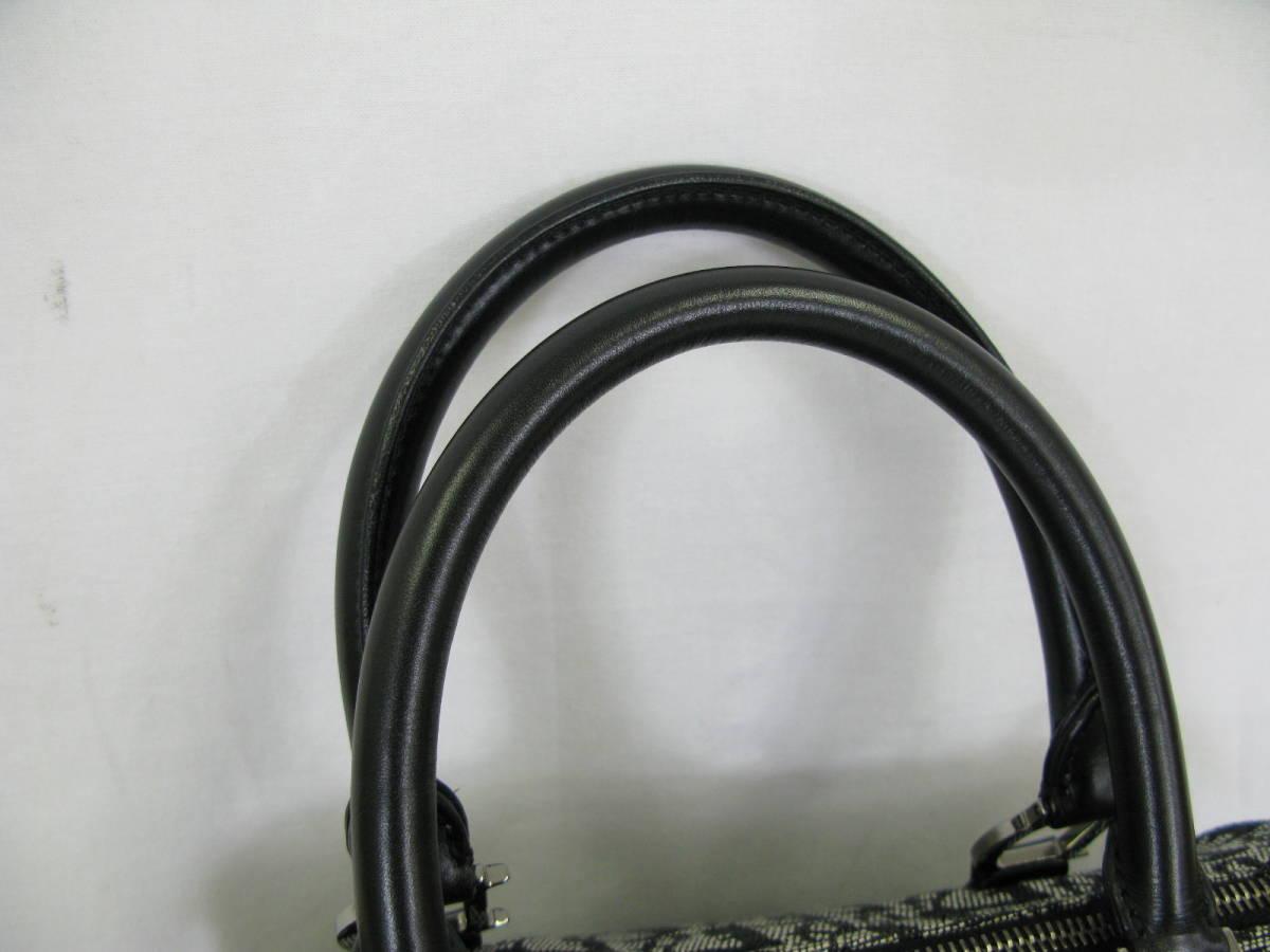 Dior ディオール トロッター ヴィンテージ キャンバス レザー ミニボストン ハンドバッグ 6:7JKL2.5_画像7