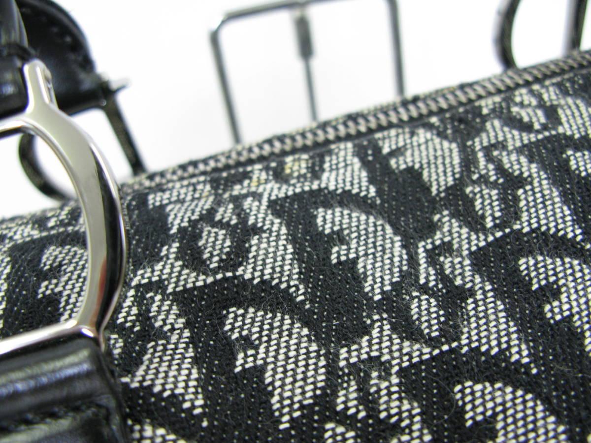 Dior ディオール トロッター ヴィンテージ キャンバス レザー ミニボストン ハンドバッグ 6:7JKL2.5_画像2