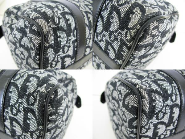 Dior ディオール トロッター ヴィンテージ キャンバス レザー ミニボストン ハンドバッグ 6:7JKL2.5_画像9
