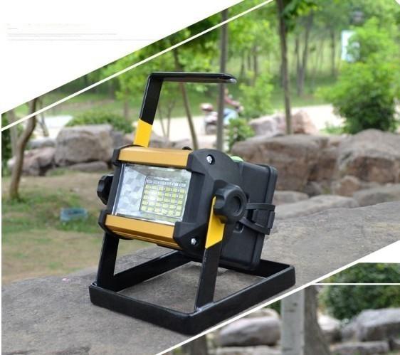 充電式 LED 投光器 50W/ワークライト 屋外照明 釣り フィッシング 作業灯 アウトドア ポータブル投光器 ライト ハンドライト 非常灯