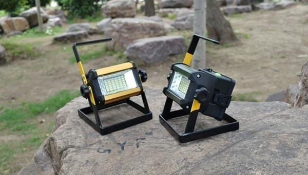 充電式 LED 投光器 50W/ワークライト 屋外照明 釣り フィッシング 作業灯 アウトドア ポータブル投光器 ライト ハンドライト 非常灯_画像9