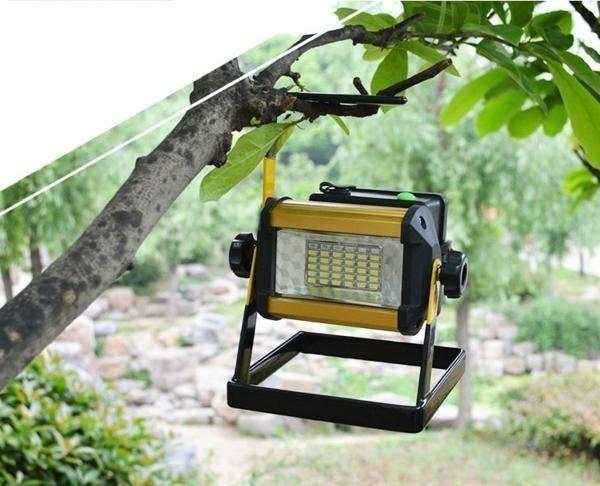 充電式 LED 投光器 50W/ワークライト 屋外照明 釣り フィッシング 作業灯 アウトドア ポータブル投光器 ライト ハンドライト 非常灯_画像10