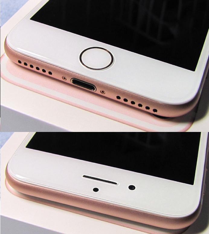 傷なし 新品同様美品 SIMフリー 化済 Apple iPhone7 128GB ローズゴールド docomo版 SIMロック解除済 格安SIM OK iphone 7 スピード発送_画像4