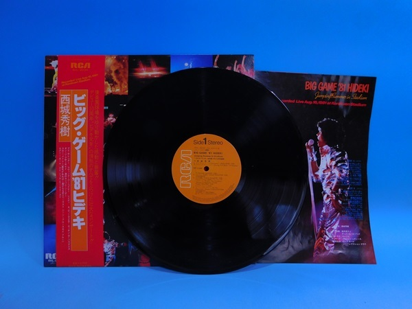 【LP】西城秀樹/BIG GAME ビッグ・ゲーム・ヒデキ'81/帯・歌詞カード付