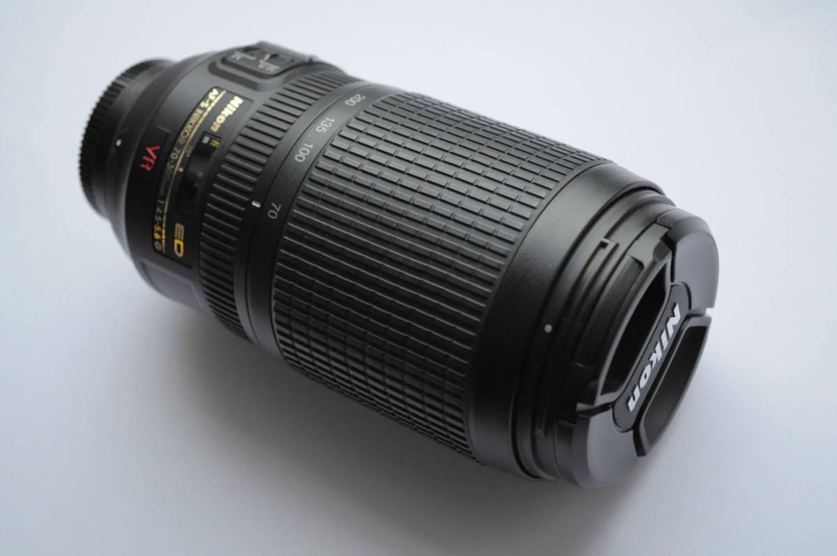 ニコン Nikon AF-S NIKKOR 70-300mm 4.5-5.6G ED VR ED フルサイズ 状態良好 送料無料
